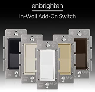 GE Series Add Z-Wave, ZigBee Bluetooth Wireless Smart Lighting Controls, NOT A STANDALONE Switch, Includes White & Light Almond Paddles, 12723
