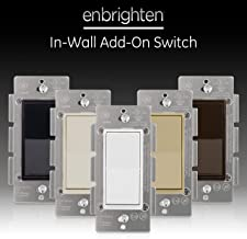 GE Series Add Z-Wave, ZigBee Bluetooth Wireless Smart Lighting Controls, NOT A STANDALONE Switch, Includes White & Light Almond Paddles, 12723