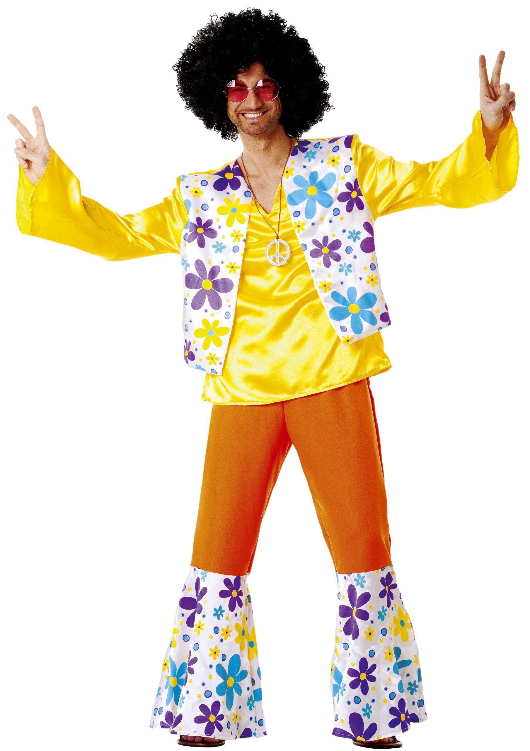 Cesar B348-005Flower Power - Disfraz de hippie para hombre, talla ...