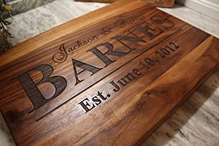 Best Anniversary Gifts For her - Wedding Gift for couple or bride. Personalized Cutting Board, Anniversary gifts for Men, Gift for her, Present For bride and groom Review