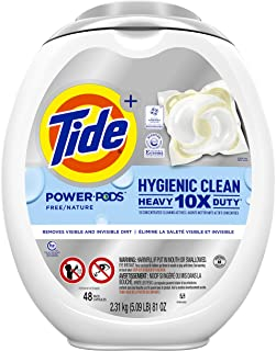 Tide Pods Hygienic Clean Heavy Duty 10x Free Power PODS Laundry Detergent, 48 count, Unscented, For Visible and Invisible ...