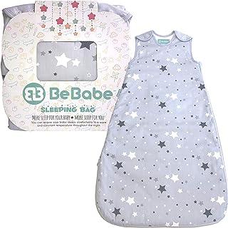 Saco de dormir para bebés tog 2,5 Be Babe   6-18 meses   Saco de dormir para recién nacidos, niños o niñas   Doble cremallera   Alternativa a mantas para cunas, camas y viajes   Estrella Gris
