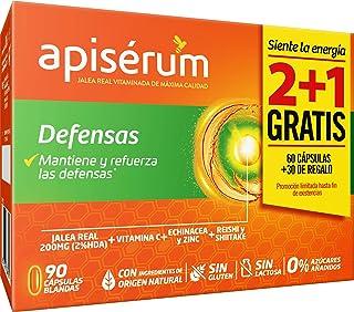 comprar comparacion Apisérum Pack Defensas Cápsulas - 3 meses de tratamiento - Mantiene y refuerza las defensas - Multivitamínico con Jalea Re...