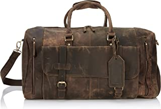 mens leather carry on travel bag