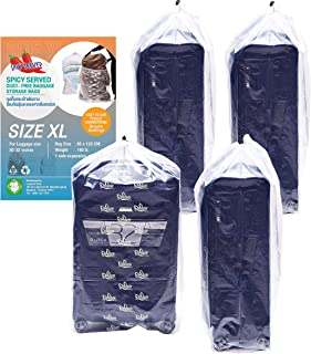 4 pieces of Dust Cover Big Plastic Drawstring Bags Multi-Purpose for Storage and Keeping Luggage, Big Dolls, Blankets, Pil...
