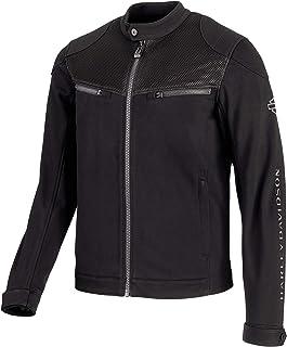 HARLEY-DAVIDSON Official Men's 3D Mesh Accent Casual Slim Fit Jacket, Black