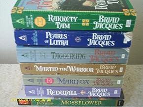 7 Book Redwall Collection; Redwall, Mossflower, Marlfox, Martin the Warrior, Taggerung, Mariel of Redwall, Triss