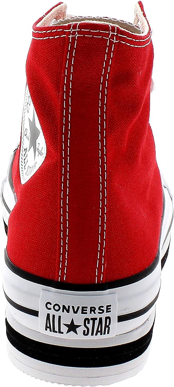 Converse Layer Bottom REDWHITEBLACK Hi 567996C Rosso Rosso 41.5 EU ...