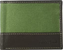 Canvas & Leather Billfold Set