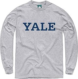 Ivysport Cotton Long Sleeve T-Shirt, Heather Grey, with Classic Arch Logo
