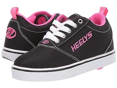 Heelys Pro 20 (Little Kid/Big Kid/Adult) (Black/White/Pink) Girl