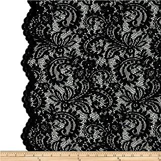 TELIO Amelia Lace Black Fabric by The Yard