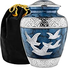 Trupoint Memorials Heavenly Peace Dark Blue Wings of Love Large Urn for Human Ashes