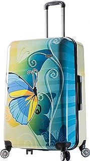 Viaggi Mia Viaggi Italy Butterfly Hardside 28 Inch Spinner, Butterfly (Multi) - V1034-28IN-BTFN