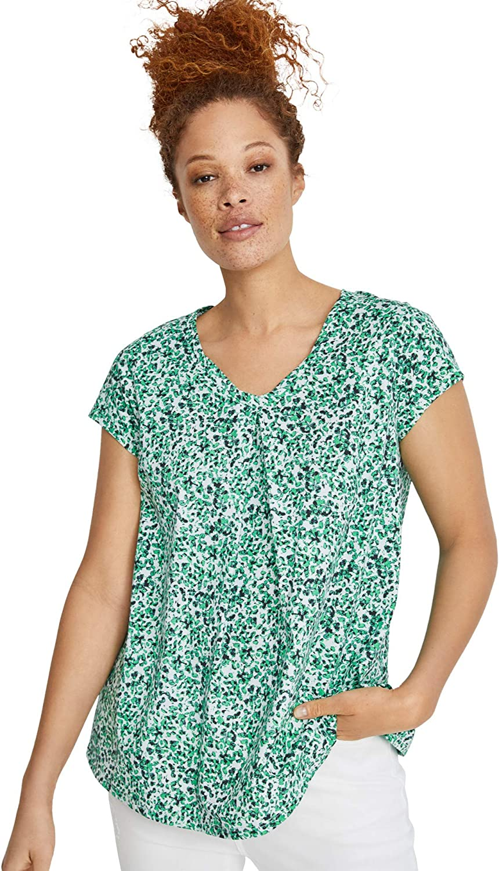 ellos Women's Plus Size Twisted V-Neck Tee T-Shirt