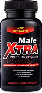 Male Xtra Natural Male Enhancing Pill - Enlargement Booster | Horny Goat Weed | L Arginine | Saw Palmetto | Extra Select Ingredients | Increase Size, Strength, Endurance - USA Made Non GMO 60 Capsule
