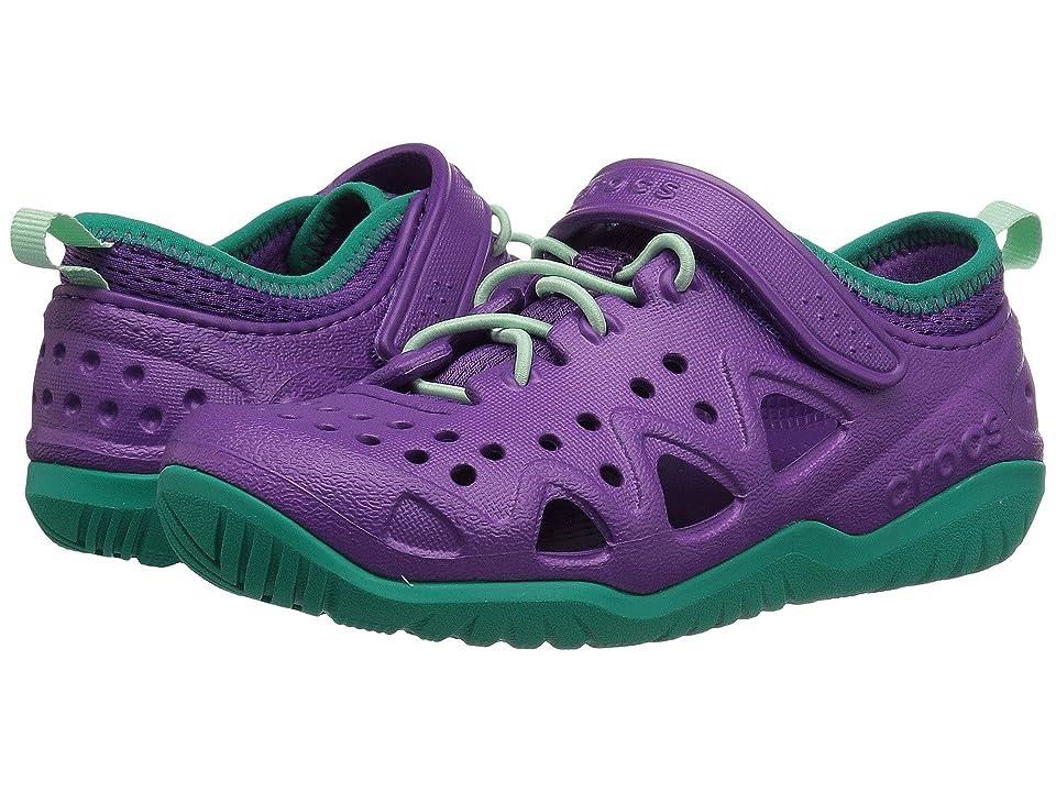 Crocs Kids Swiftwater Play Shoe (Toddler/Little Kid) (Amethyst) Kid