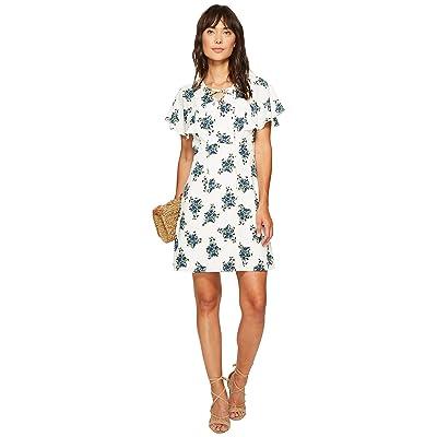 kensie Mini Bouquet Dress KS6K7998 (French Vanilla Combo) Women