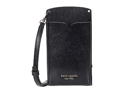 Kate Spade New York Spencer Slim Crossbody (Black) Handbags