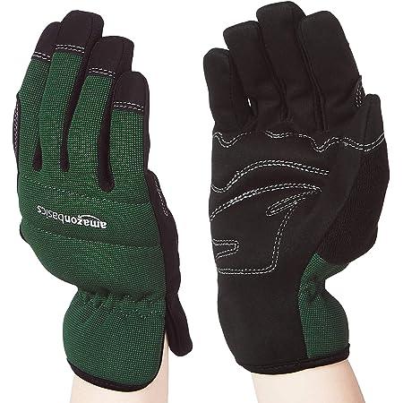 Amazon Basics Women's Work or Garden Gloves - Medium, Green