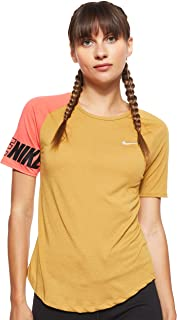 Nike Women's Np Hprcl Tanks, Gold (Club Gold/clear), Small