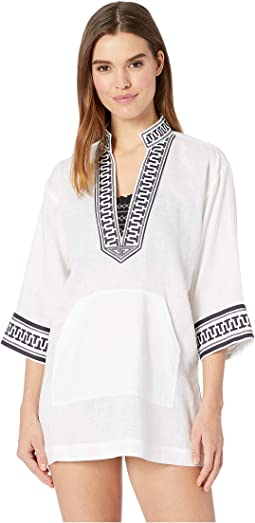 Embroidered Tory Tunic Cover-Up