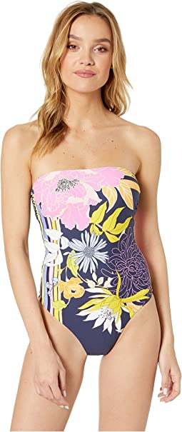 Bal Harbour Floral Bandeau One-Piece Swimsuit