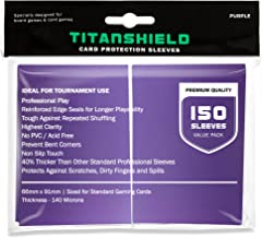 TitanShield (150 Sleeves/Purple Standard Size Board Game Trading Card Sleeves Deck Protector for Magic The Gathering MTG, ...
