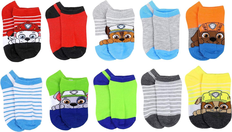 Nickelodeon Boy's Paw Patrol 10-Pack No Show Socks
