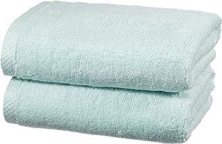 Amazon Basics Set de 2 serviettes serviettes de bain à séchage rapide - Bleu glace