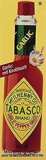 TABASCO Garlic Pepper Sauce – 3x 60 ml - Glasflasche - original - 100% natürliche Zutaten – 3er Pack– Hot Sauce - scharfe Chili-Sauce