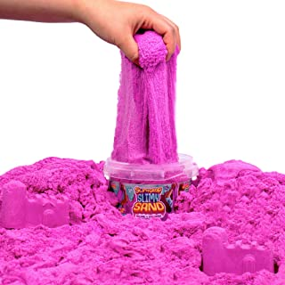 SLIMYSAND 1.5 Lb Slimy Play Sand Bucket by Horizon Group USA- Purple