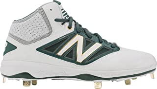 New Balance Midcut 4040v3 Mens Cushioning Metal Baseball Cleat White-Green