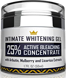 Intimate Whitening Cream - Made in USA Skin Lightening Gel for Body, Face, Bikini and Sensitive Areas - Underarm Bleaching...