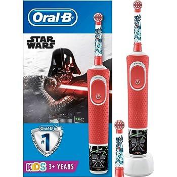 Oral-B Kids Spazzolino Elettrico Ricaricabile, 1 Manico con Personaggi di Star Wars, 2 Testine di Ricambio, per Età da 3 Anni