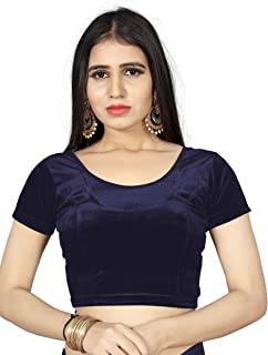ee2aaa2051dd66 BKD Fashion Stretchable Readymade Velvet Blouse For Women (Free Size)