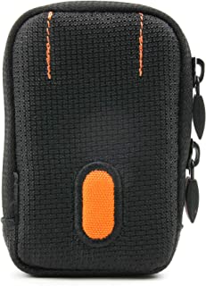 DURAGADGET Rugged Protective Storage Case in Black and Orange with Belt Loop - Suitable for The Monster iSport Strive V3 Sport Headphones