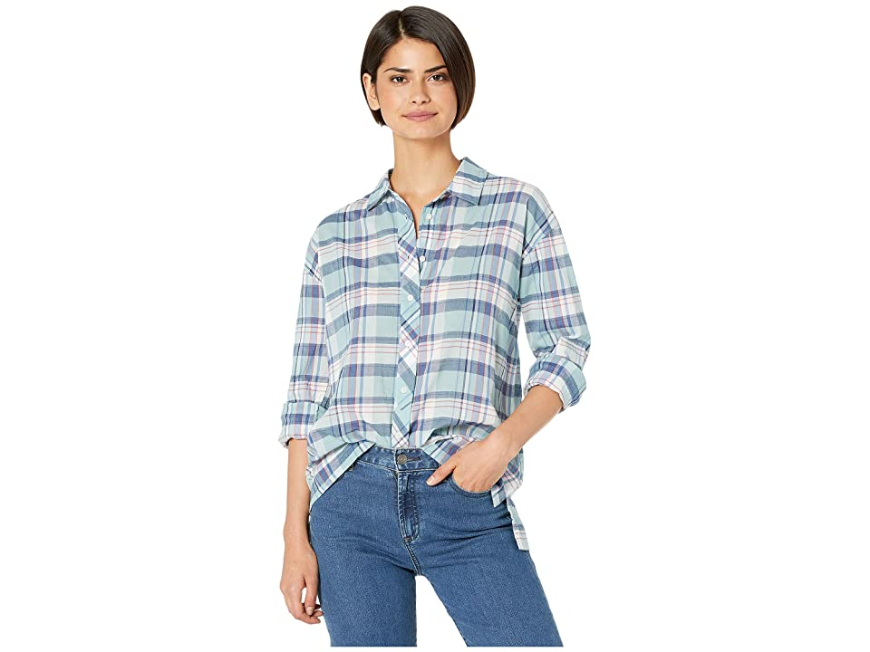 J.Crew Betel Shirt - Morgan Plaid (Sundrenched Aqua) Women's Clothing, Blue