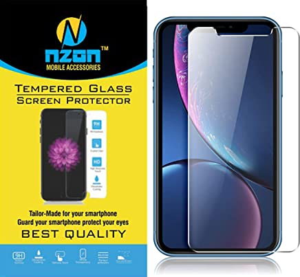 nzon Edge to Edge Anti Glare/Fingerprint Toughened Front Tempered Glass Screen Protector for iPhone XR (Clear)