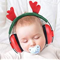 PORMUCAL Noise Reduction Ear Muffs for Infant and Toddlers with Christmas Antlers