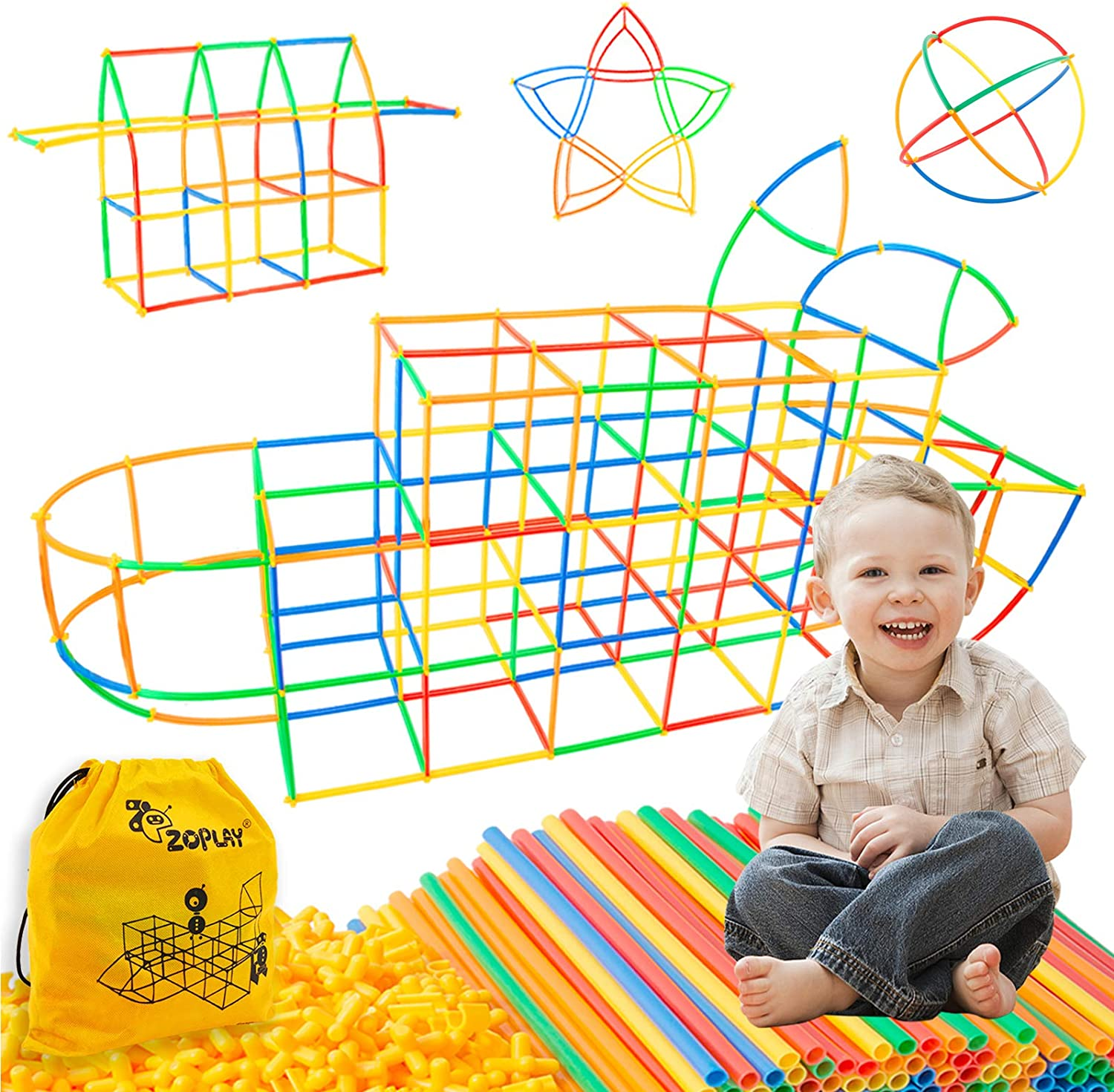 Straw Constructor Price reduction Stem Toys Free shipping on posting reviews 300 Connectors Building Straws Pcs F
