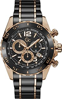 Gc Mens Quartz Watch, Chronograph Display And Stainless Steel Strap - Y02014G2MF
