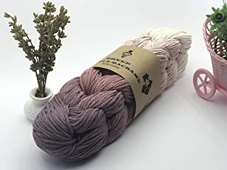 100% Natural Cotton Macrame Puzzle Cord 7 Colors - Organic Macrame Cotton Rope for DIY Crafts - Knitting Knotting Decorati...