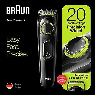 Braun BT3221 Beard Trimmer for Men Cordless & Rechargeable Hair Clipper, Volt Green