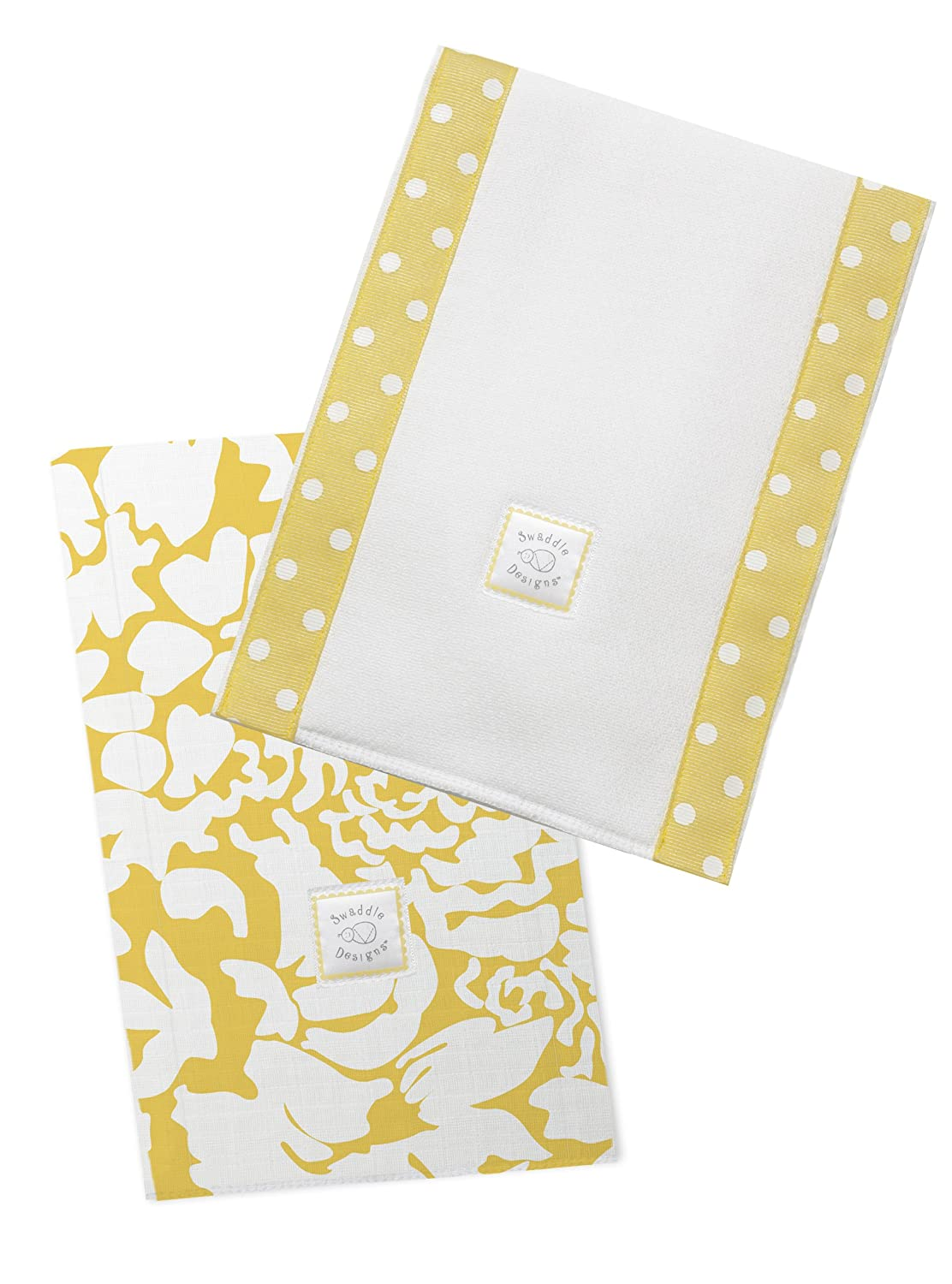 Ranking TOP8 SwaddleDesigns Max 64% OFF Baby Burpies Set of 2 Cloths Cotton Burp Yellow