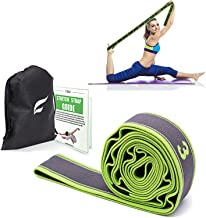Exercise Resistance Band, High Elastic Resistant 9 Loops Yoga Stretching Strap, Ideal for Tone Muscles Dancer Gymnast Warm...