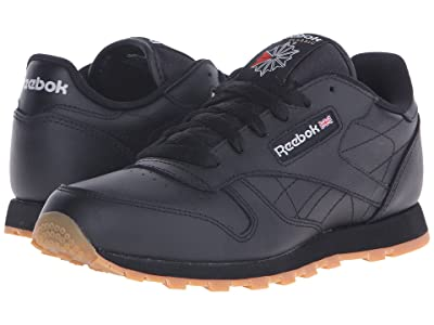 Reebok Kids Classic Leather (Big Kid) (Black/Gum) Kids Shoes