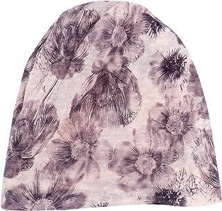 ABOOFAN Outdoor Headwear Thin Headscarf Fashion Sun Cap Soft Maternity Hat for Ladies Women Decoration (Gray Flower Pattern)