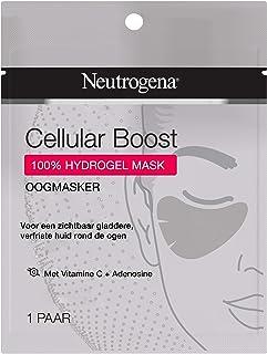 Neutrogena Cellular Boost Oogmasker, oogmasker met vitamine C en adenosine voor een zichtbaar gladdere, verfriste huid ron...