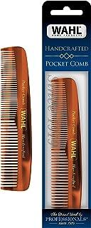Wahl Model 3324 pente de barba, bigode e bolso de cabelo para cuidados masculinos – feito à mão e cortado à mão com acetat...
